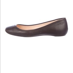 Christian Louboutain brown leather flats